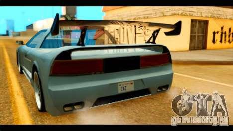 Infernus Rapide GTS Stock для GTA San Andreas вид сзади