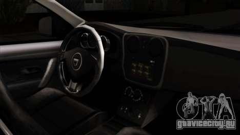 Dacia Logan MCV 2013 IVF для GTA San Andreas вид справа