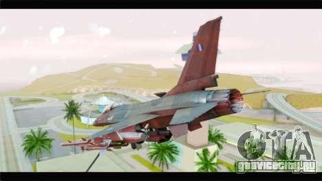 F-16C Hellenic Air Force для GTA San Andreas вид слева