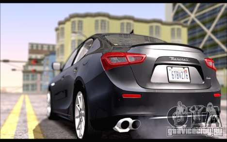 Maserati Ghibli 2014 для GTA San Andreas вид слева