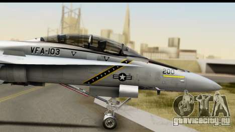 FA-18D VFA-103 Jolly Rogers для GTA San Andreas вид сзади слева