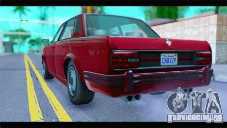 GTA 5 Benefactor Glendale Special IVF для GTA San Andreas вид слева