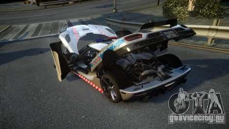 Koenigsegg Agera Polish Highway Patrol Police для GTA 4 вид сбоку