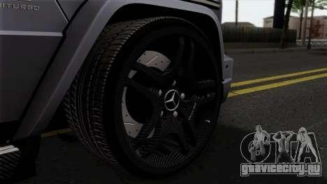 Mercedes-Benz G65 AMG Carbon Edition для GTA San Andreas вид сзади слева