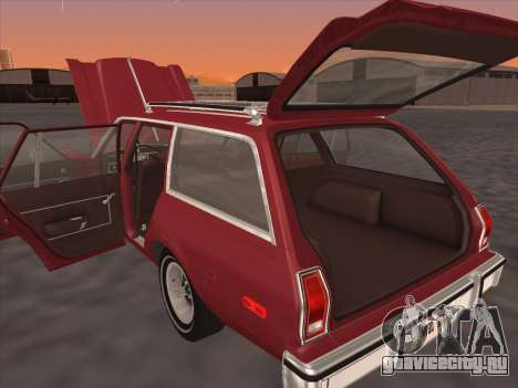 Plymouth Volare Wagon 1976 для GTA San Andreas вид сзади