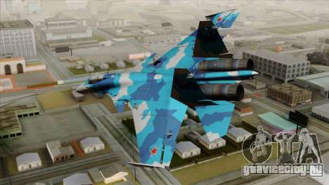 SU-33 Flanker-D Blue Camo для GTA San Andreas вид слева