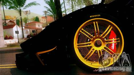 Pagani Zonda R для GTA San Andreas вид сзади слева