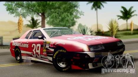 Elegy NASCAR для GTA San Andreas вид сзади