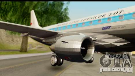 Embraer 175 PLL LOT Retro для GTA San Andreas вид сзади слева