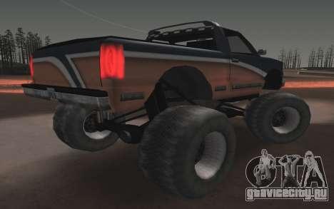 Новые текстуры Monster Final для GTA San Andreas вид сзади слева