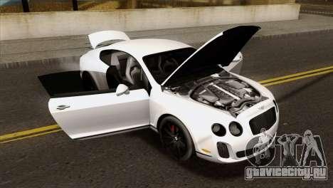 Bentley Continental SS 2010 для GTA San Andreas вид справа