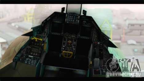 F-16A Fuerza Aerea Venezolana для GTA San Andreas вид сзади