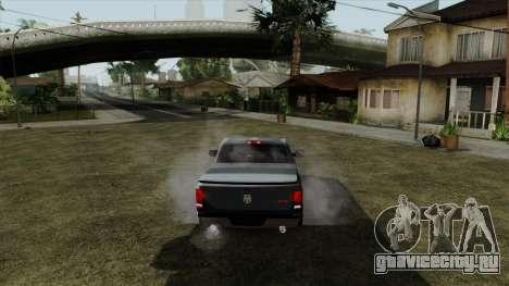 Dodge Ram QuickSilver для GTA San Andreas вид сзади слева