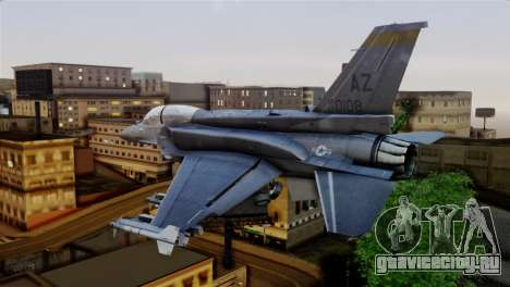 EMB F-16F Fighting Falcon US Air Force для GTA San Andreas вид слева