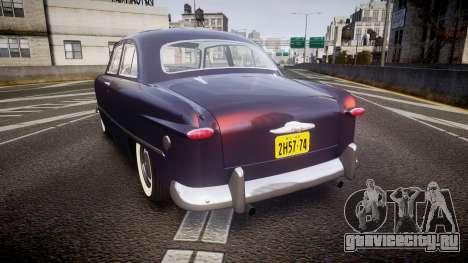 Ford Custom Tudor 1949 v2.2 для GTA 4 вид сзади слева