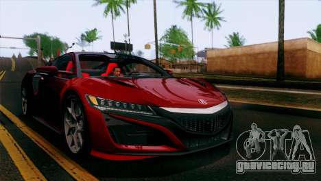 Acura NSX 2016 v1.0 SA Plate для GTA San Andreas