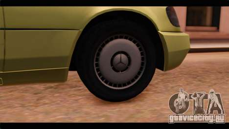 Mercedes-Benz W140 для GTA San Andreas вид сзади слева