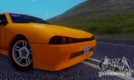 Elegy Hatchback v.1 для GTA San Andreas вид изнутри