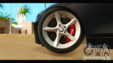 BMW Z4 sDrive35is 2011 для GTA San Andreas вид сзади слева