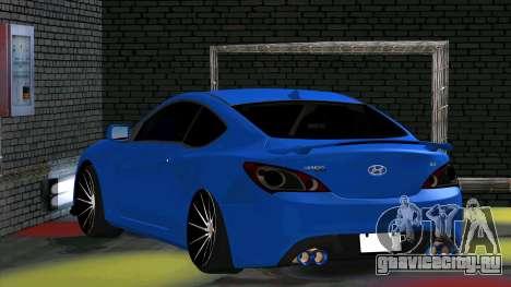 Hyundai Genesis Coupe для GTA San Andreas вид справа
