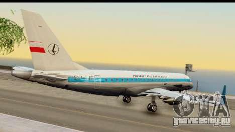 Embraer 175 PLL LOT Retro для GTA San Andreas вид слева