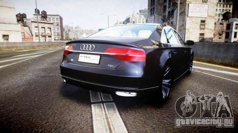 Audi A8 L 2015 Chinese style для GTA 4 вид сзади слева