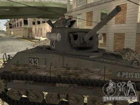 Танк M4 Sherman для GTA San Andreas вид справа
