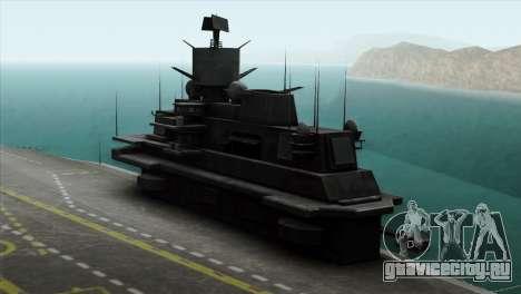 Admiral Kuznetsov Class для GTA San Andreas вид сзади слева