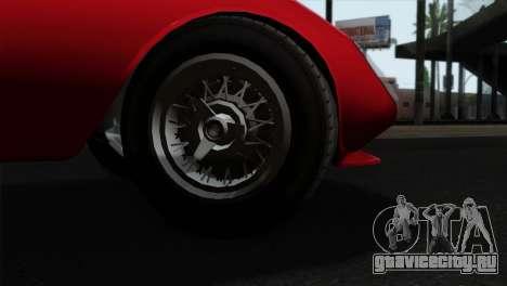 GTA 5 Grotti Stinger GT v2 IVF для GTA San Andreas вид сзади слева