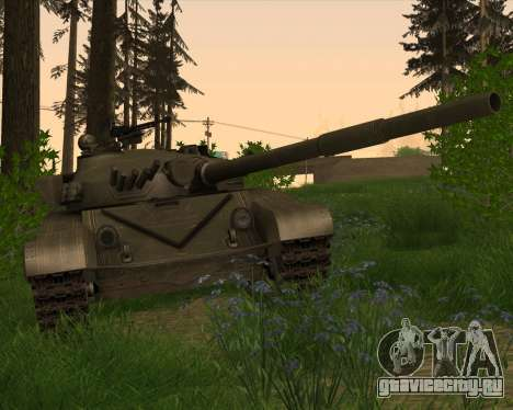 Т-72 для GTA San Andreas вид изнутри