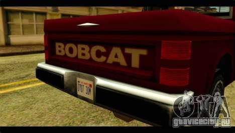 Bobcat Technical Pickup для GTA San Andreas вид сзади