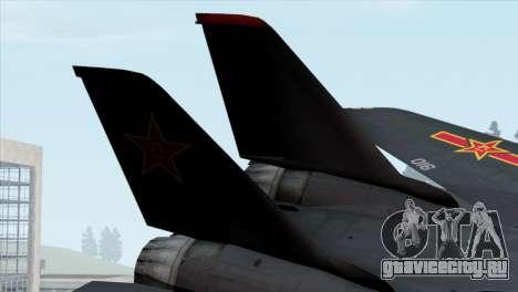 F-14 China Air Force для GTA San Andreas вид сзади слева
