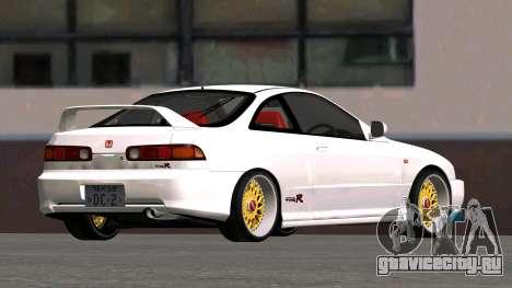 Honda Integra Type R 2000 для GTA San Andreas вид сзади слева