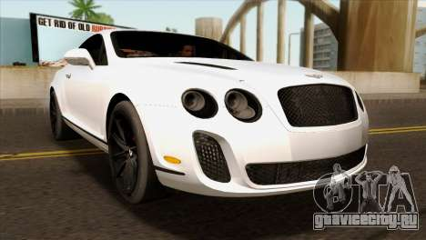 Bentley Continental SS 2010 для GTA San Andreas