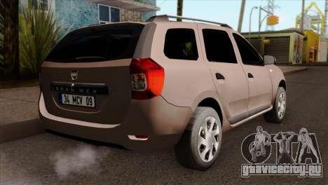 Dacia Logan MCV 2013 IVF для GTA San Andreas вид слева