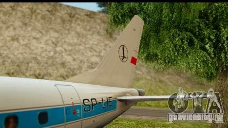 Embraer 175 PLL LOT Retro для GTA San Andreas вид сбоку