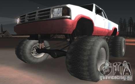 Новые текстуры Monster Final для GTA San Andreas вид изнутри