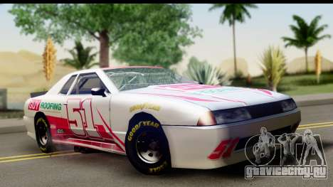 Elegy NASCAR для GTA San Andreas вид изнутри