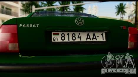 Volkswagen Passat B5 для GTA San Andreas вид справа