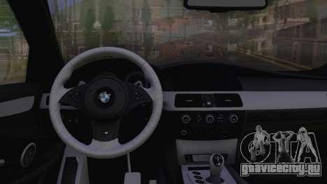 BMW M5 E60 2009 Stock для GTA San Andreas вид справа