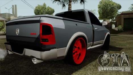 Dodge Ram QuickSilver для GTA San Andreas вид слева