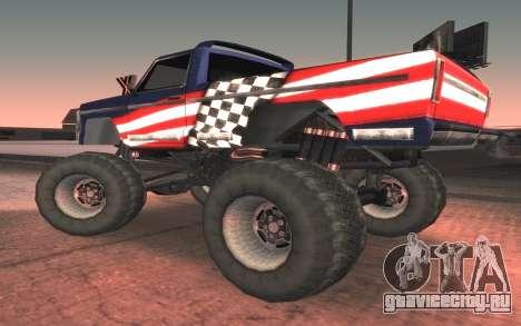 Новые текстуры Monster Final для GTA San Andreas вид слева