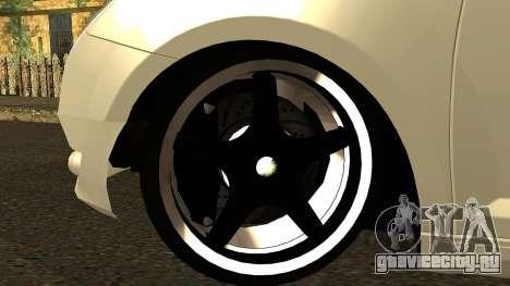 Alfa Romeo Mito Tuning для GTA San Andreas вид изнутри