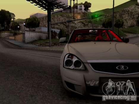 ВАЗ 2172 (Lada Priora) для GTA San Andreas вид сзади