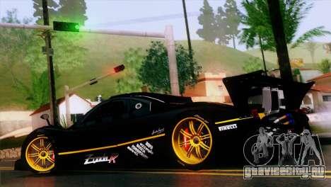 Pagani Zonda R для GTA San Andreas вид слева