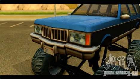 Monster Regina для GTA San Andreas вид сзади