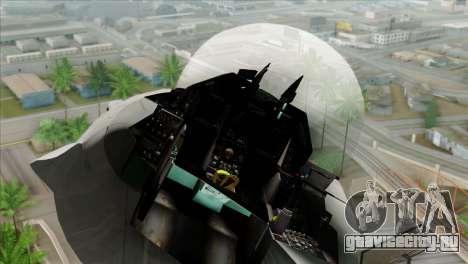 F-16C Jastrzab для GTA San Andreas вид сзади