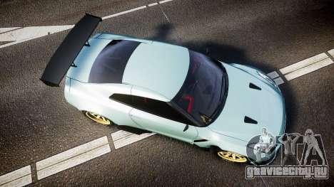 Nissan GT-R R35 Rocket Bunny [Update] для GTA 4 вид справа