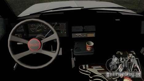 GMC Sierra 2500 1992 Extended Cab Final для GTA San Andreas вид справа