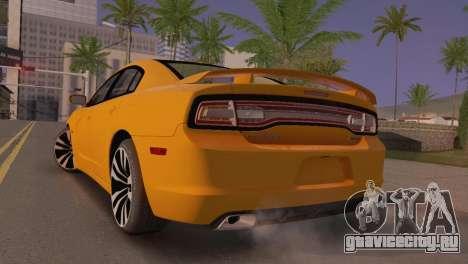 Dodge Charger SRT8 2012 Stock Version для GTA San Andreas вид сзади слева